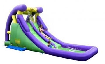 Afbeeldingen van HappyHop Springkussen Double Water Slide 9029