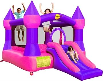 Afbeeldingen van HappyHop Springkussen kasteel paars en roze 9017P