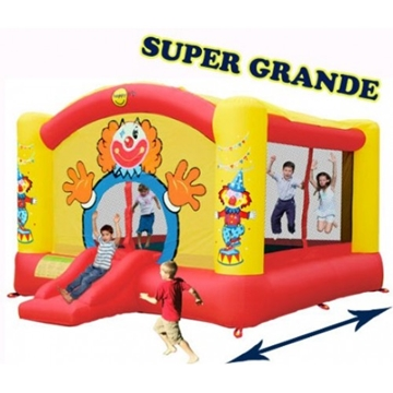 Afbeeldingen van HappyHop Super Clown Slide XL Springkussen 9014N