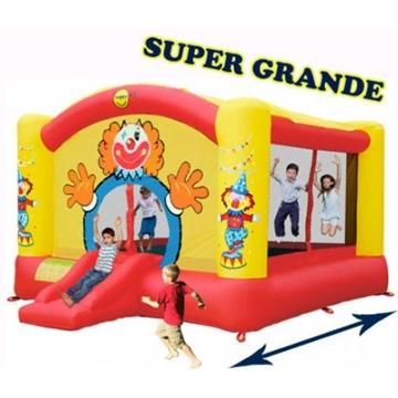 Afbeeldingen van HappyHop Super Clown Slide XL Springkussen 9014N