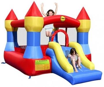 Afbeeldingen van HappyHop Castle Bouncer with Slide 9017 springkussen