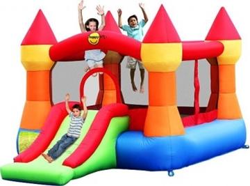 Afbeeldingen van HappyHop Castle Bouncer with Slide 9017N Springkussen
