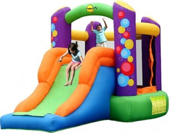 Afbeeldingen van HappyHop Combo Bouncer with Slide Springkussen 9236