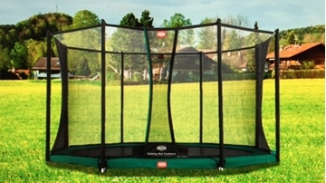 Afbeeldingen van Berg InGround Champion trampoline 380 + Safety Net Comfort