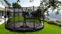 Afbeeldingen van Berg InGround Champion trampoline 380 GREY + Safety Net Comfort
