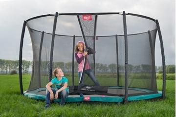 Afbeeldingen van Berg InGround Champion trampoline 270 + Safety Deluxe