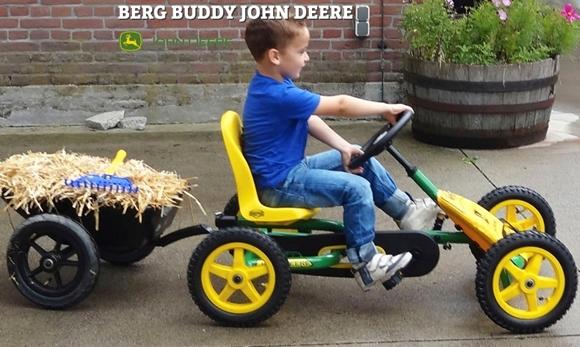 Afbeeldingen van Berg Buddy John Deere + Junior Aanhanger