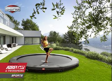Afbeeldingen van Berg InGround Champion trampoline 330 GREY