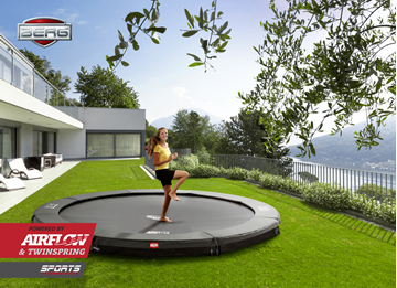 Afbeeldingen van Berg InGround Champion trampoline 380 GREY