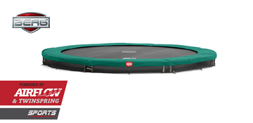 Afbeeldingen van Berg InGround Champion trampoline 380 GREEN