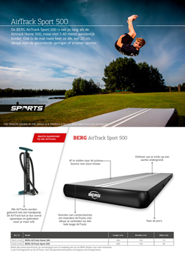 Afbeeldingen van Berg AirTrack Sport 500